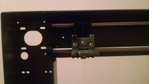 X-axis bracket and timing belt holder
