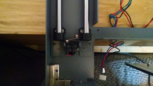 Limit switch in place