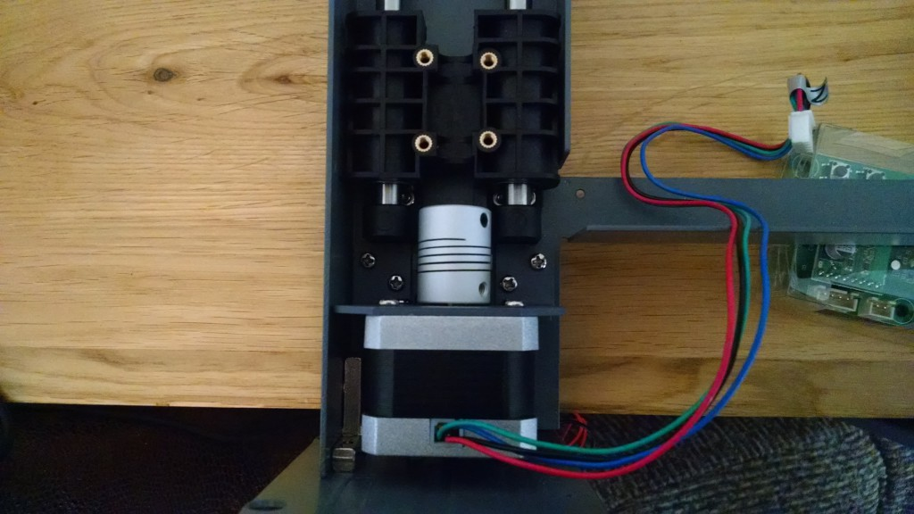 Motor, limit switch attached