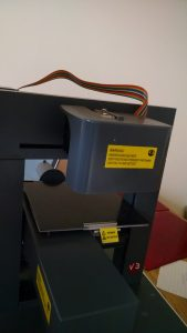 Print guard and heater attached to main frame
