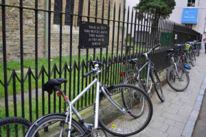 Please do not park bicycles against these railings as they may be removed - the railings or the bikes? Understanding the meaning is easy for us, harder for machines