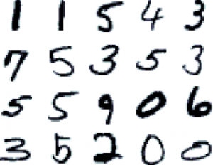 Example from the MNIST data set used in this experiment
